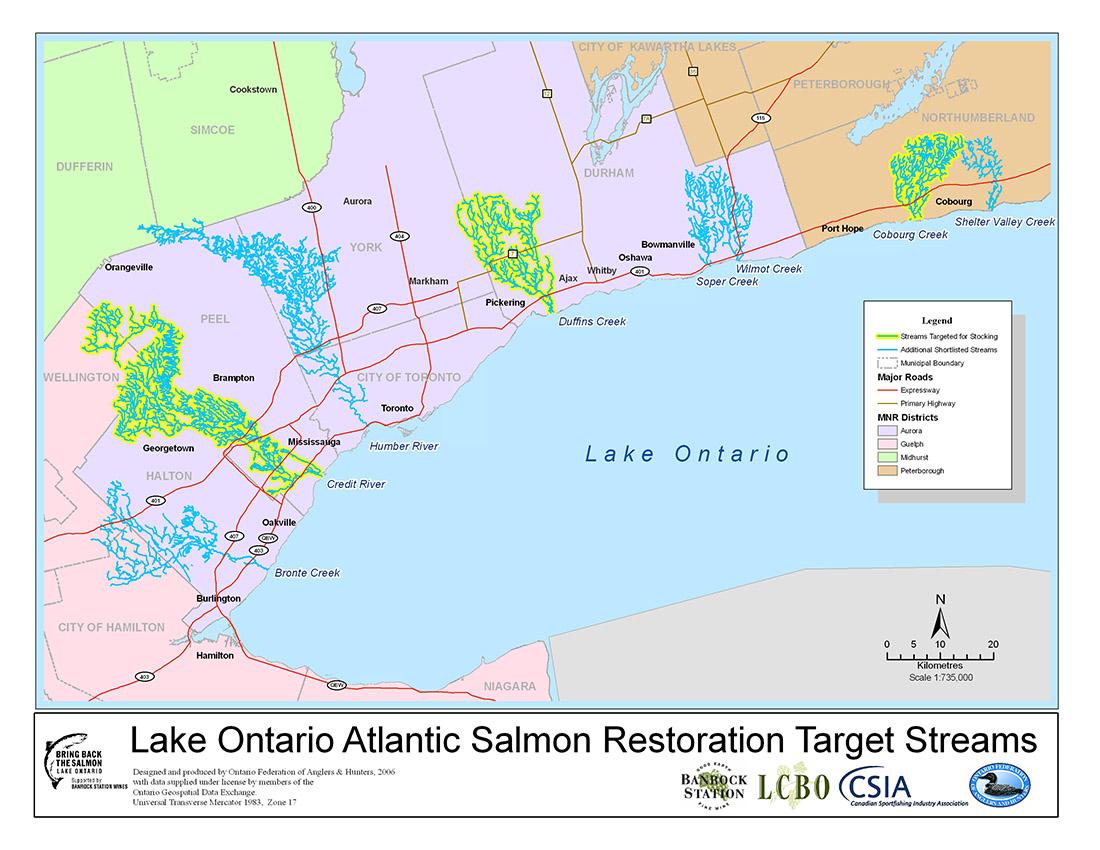 Lake Ontario Atlantic Salmon Restoration Program - Streams Overview